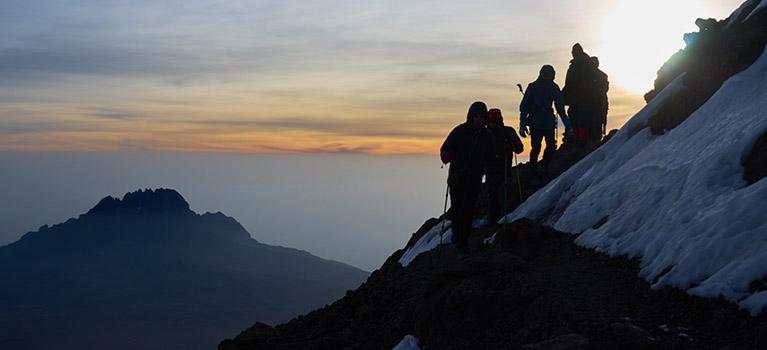 Climbing Tanzania mount Kilimanjaro
